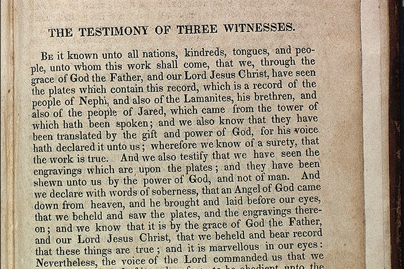 The Experience of the Three Witnesses