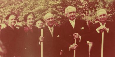 First Presidency and General Relief Society Presidency at the Groundbreaking