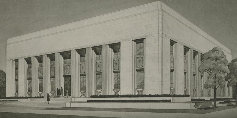 Architect's Rendering of the Relief Society Building